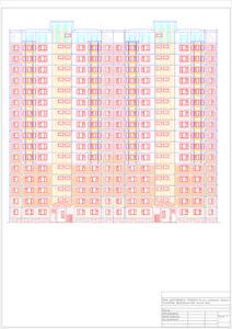 16-ти этажный сборно-панельный двухсекционный жилой дом