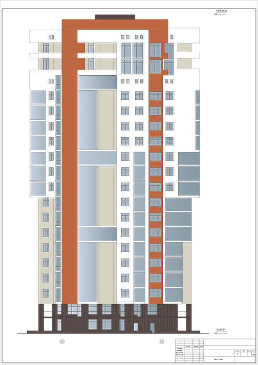 Возведение монолитного 20-этажного здания в комплексе жилой застройки