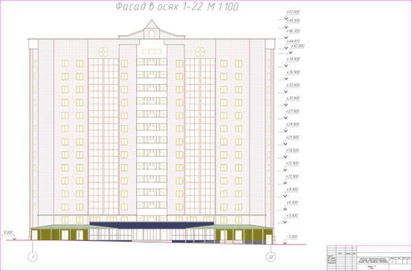Организация строительства кирпичного 15-этажного жилого здания  в комплексной застройке района