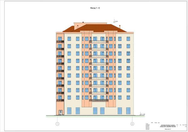 Возведение монолитного 10-этажного жилого здания с торговыми помещениями на первом этаже в микрорайоне г. Ярославля