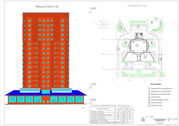 18-ти этажное монолитное жилое здание с подземной автостоянкой и 2х этажной пристройкой в г. Москва